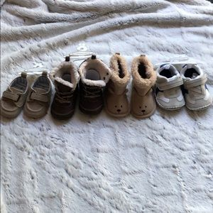 Four pairs of baby boy shoes